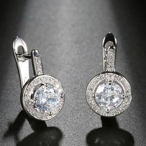 Sterling silver round stud earrings